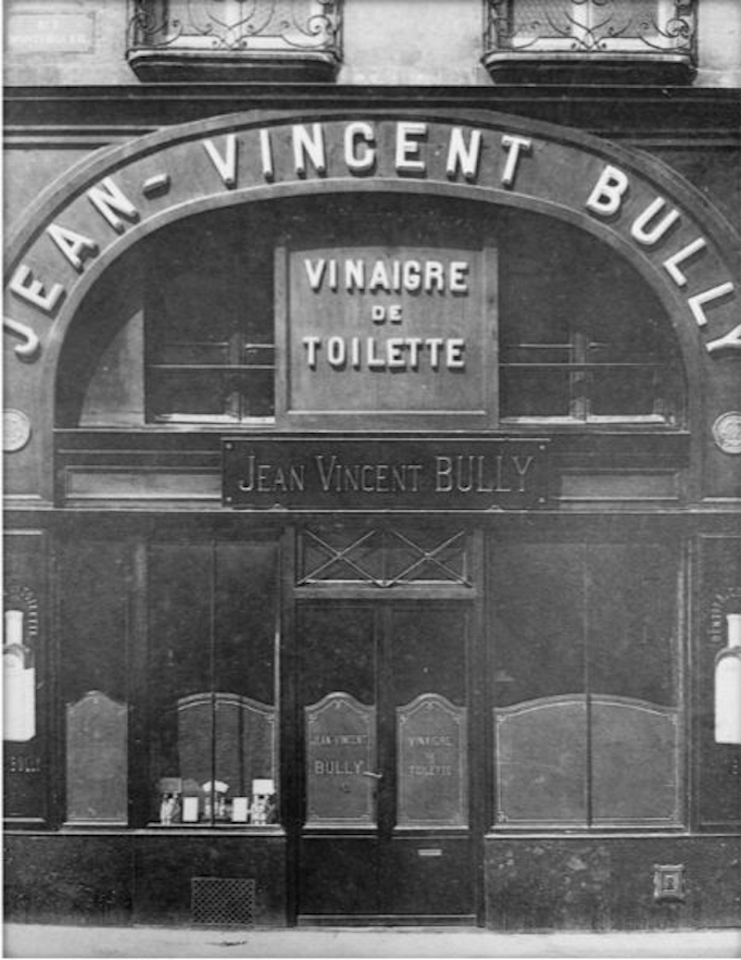 Black and white photo of the Buly Store
