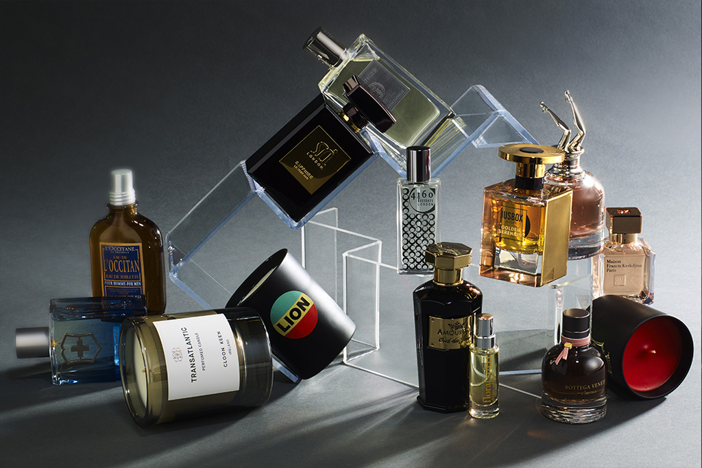 perfume and candles