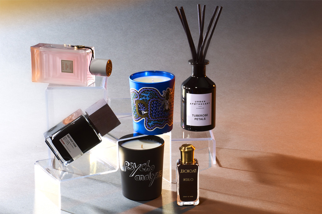 perfumes, candles and essences