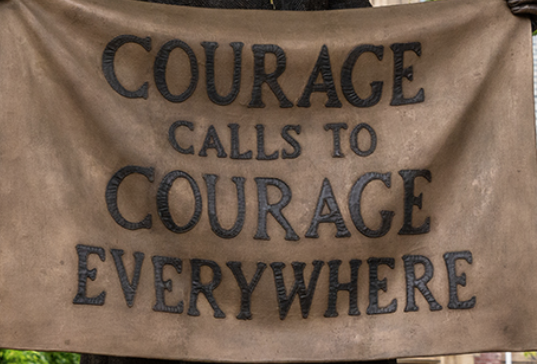 courage calls for courage banner by Millicent Fawcett